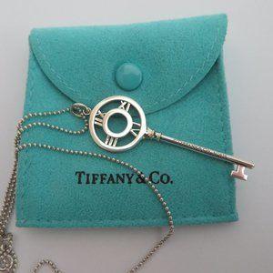TIFFANY & CO. Atlas Key Pendant Necklace